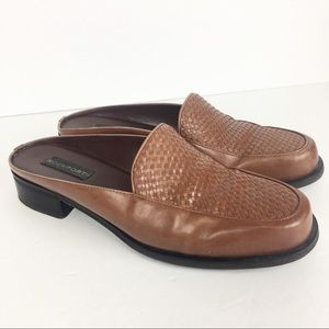Rockport Brown Leather Mules W48907 Size 8M